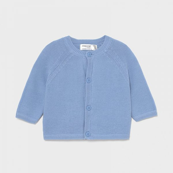 Бебешка жилетка MAYORAL за новородено момче в синьо от органичен памук
