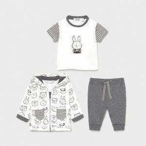 Бебешки комплект MAYORAL за момче в три части от органичен памук