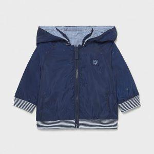 Бебешко пролетно яке MAYORAL за момче с две лица в синьо с качулка.