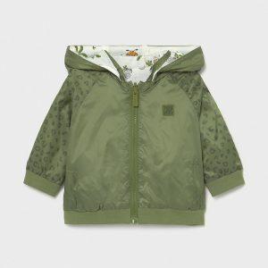 Бебешко пролетно яке MAYORAL за момче с две лица в зелено с качулка.