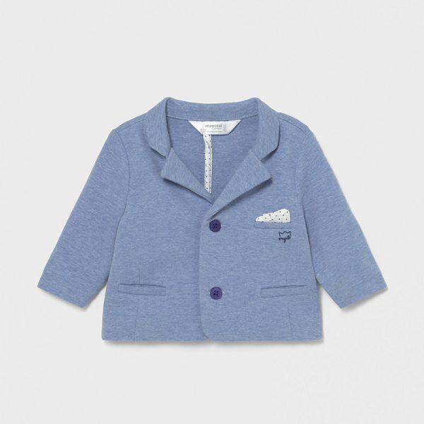 Бебешко спортно - елегантно трикотажно сако MAYORAL за момче в синьо