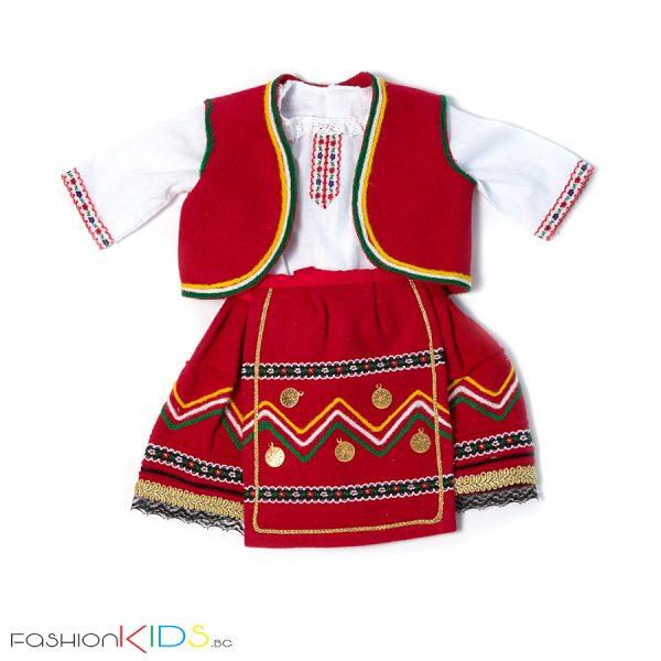 Народна носия за новородено бебе момиче от четири части