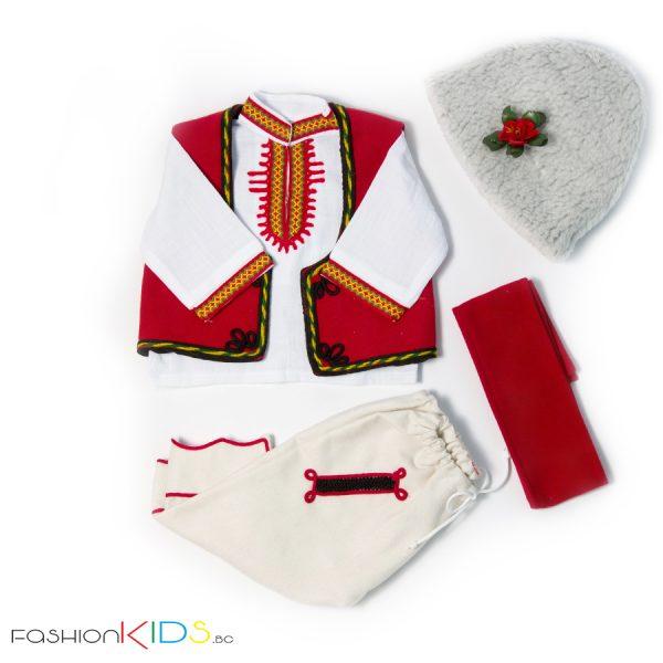Народна носия за новородено бебе момче от четири части