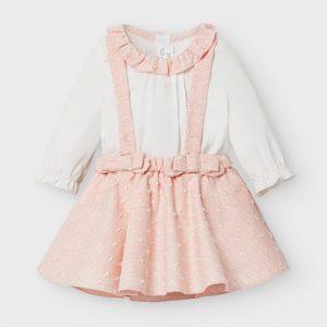 Бебешки комплект с пола с презрамки и ризка MAYORAL за новородено бебе