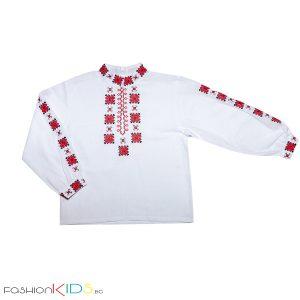 Детска народна риза от кенар за момче с богата тракийска бродерия