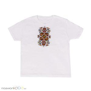 мъжка тениска с къс ръкав с принт българска шевица